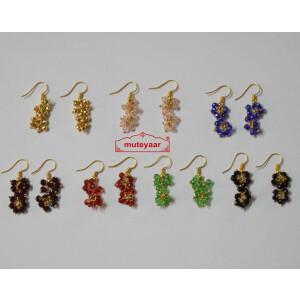 Crystal Jhumki Earrings Bulk Lot of 10 Pairs at Wholesale Price