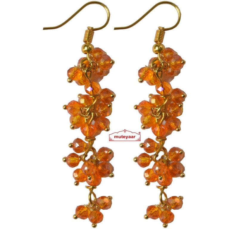 4 Step Crystal Earrings Jhumki - All colours available