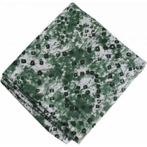 Green White allover Printed 100% Pure Cotton Fabric PC458