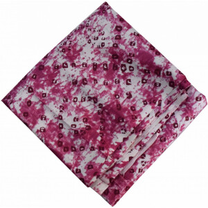 Burgundy White allover Printed 100% Pure Cotton Fabric PC460