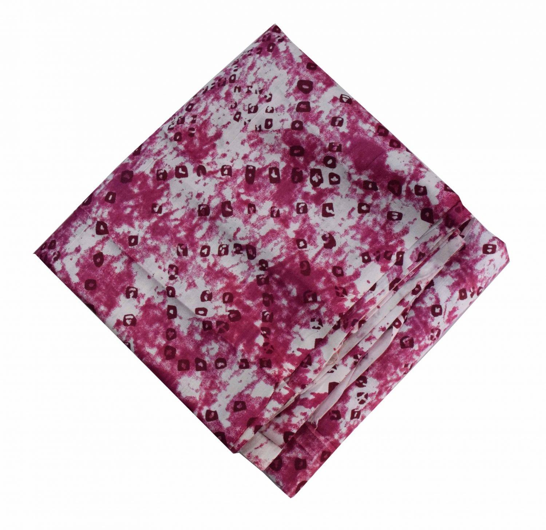Burgundy White allover Printed 100% Pure Cotton Fabric PC460 1