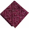 Burgundy White Bandhani Printed 100% Pure Cotton Fabric PC461 (Price by meters)