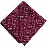 Burgundy White Bandhani Printed 100% Pure Cotton Fabric PC461