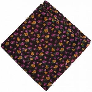 Coffee Multicolour allover Printed 100% Pure Cotton Fabric PC462