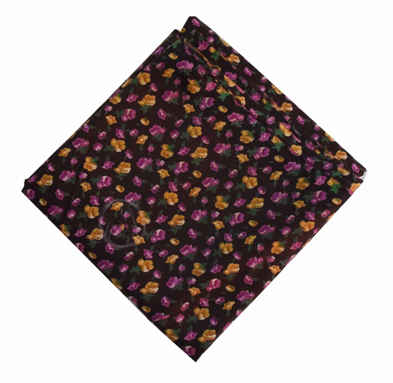 Coffee Multicolour allover Printed 100% Pure Cotton Fabric PC462 1