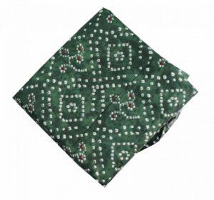 Green Bandhani allover Printed 100% Pure Cotton Fabric PC463