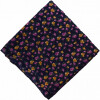 Dark Blue Printed 100% Pure Cotton Fabric PC469 (Price by meters)