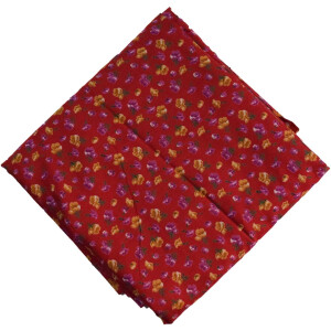 Red Printed 100% Pure Cotton Fabric PC477
