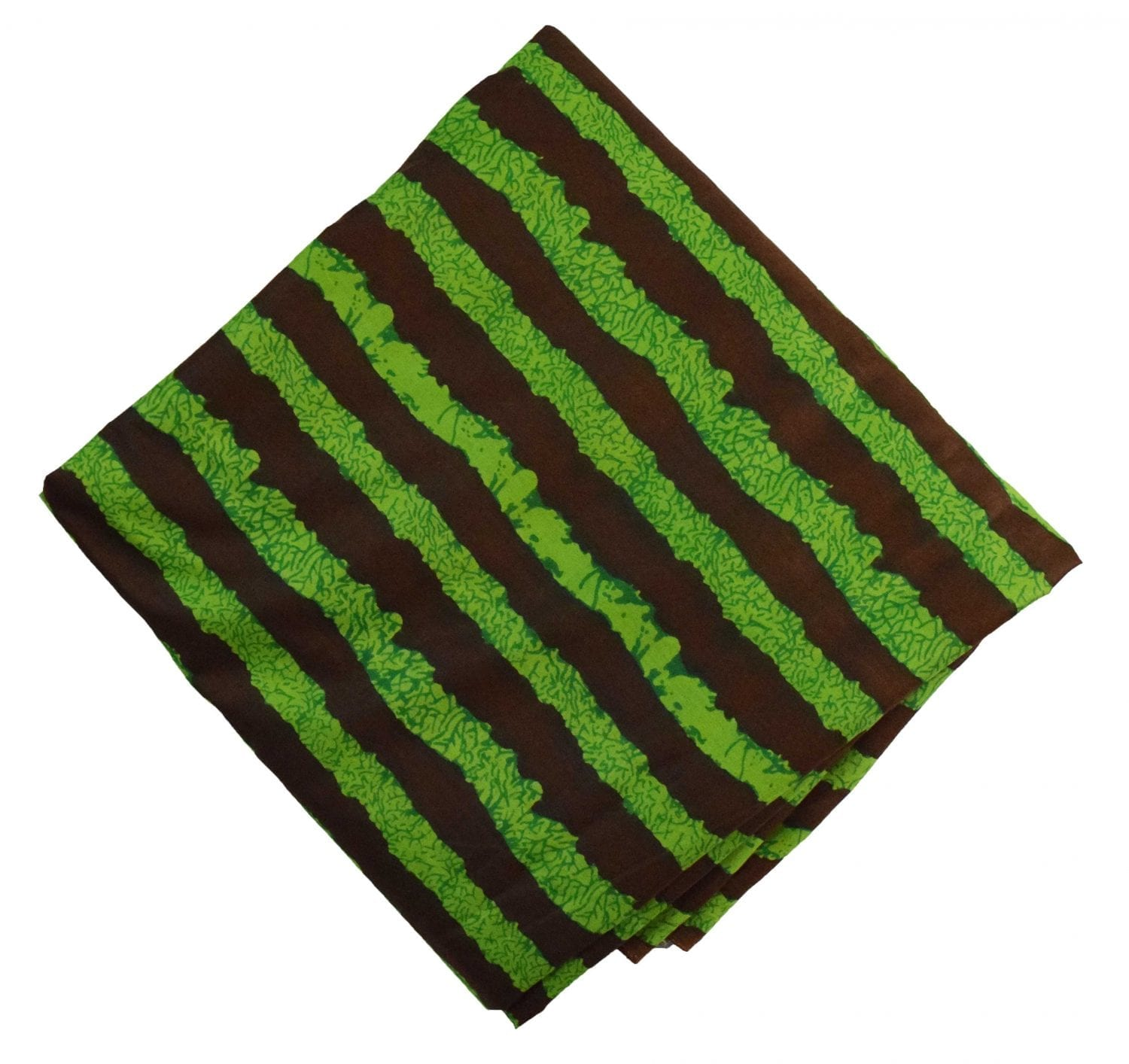 Green Brown Printed 100% Pure Cotton Fabric PC478 1