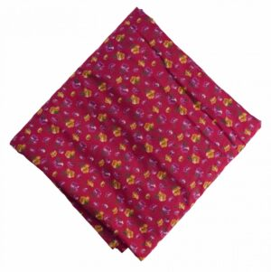Magenta Printed 100% Pure Cotton Fabric PC479