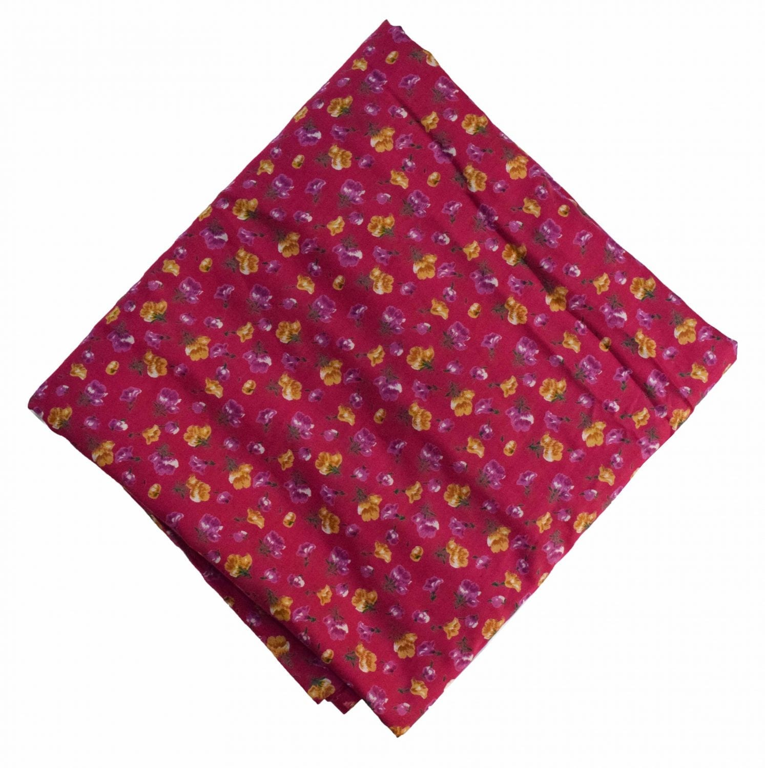 Magenta Printed 100% Pure Cotton Fabric PC479 1