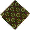 Brown Green Printed 100% Pure Cotton Fabric PC480 (Price by meters)