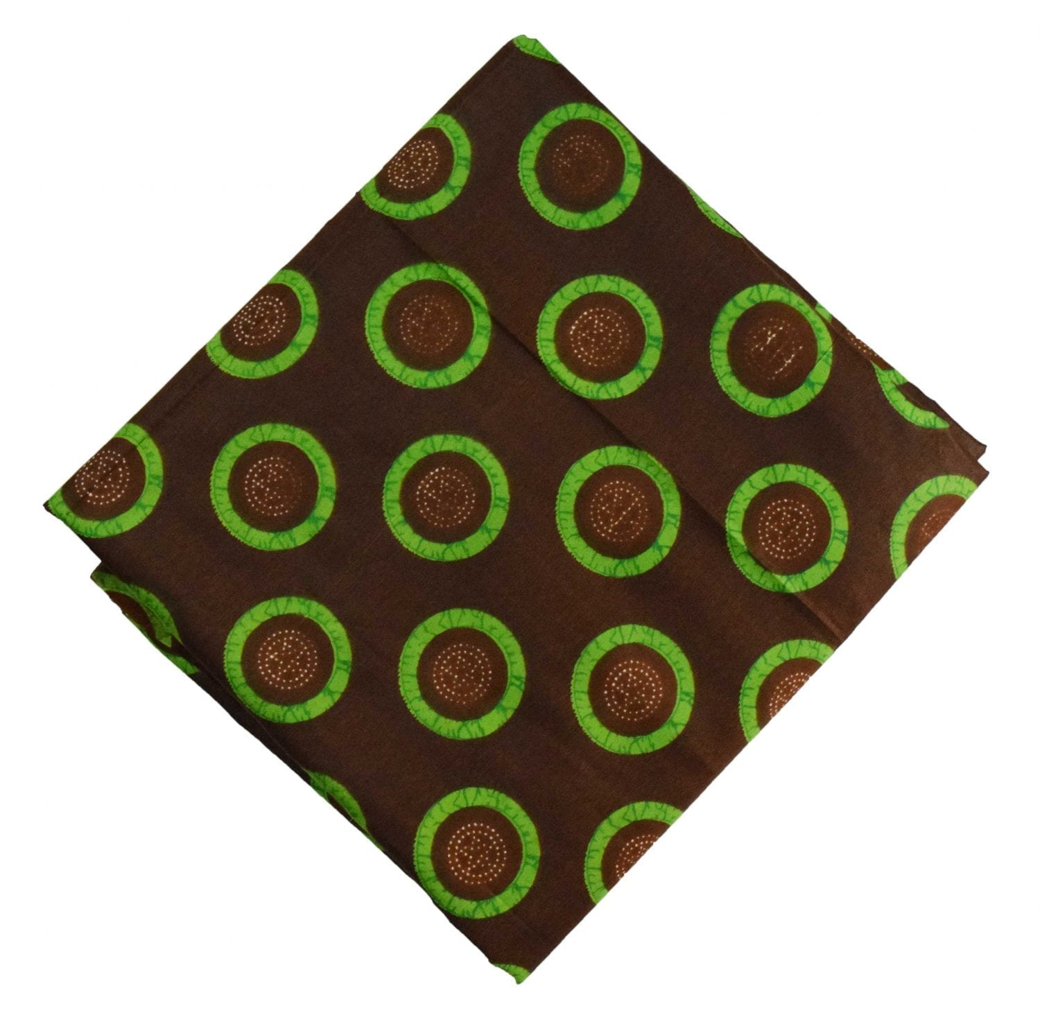 Brown Green Printed 100% Pure Cotton Fabric PC480 1