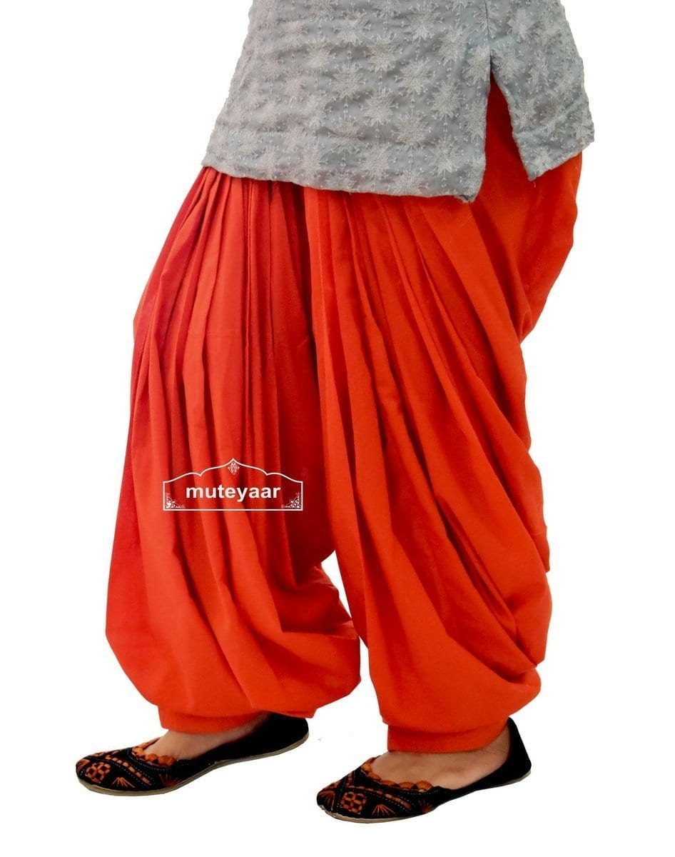 Rust Cotton Patiala Salwar from Patiala City !! 4