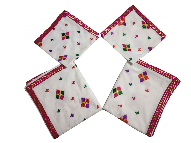White Phulkari Rumala Sahib for Shri Guru Granth Sahib Ji RL003 1