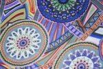 Printed Crepe fabric drapy cloth for salwar kameez PAC29