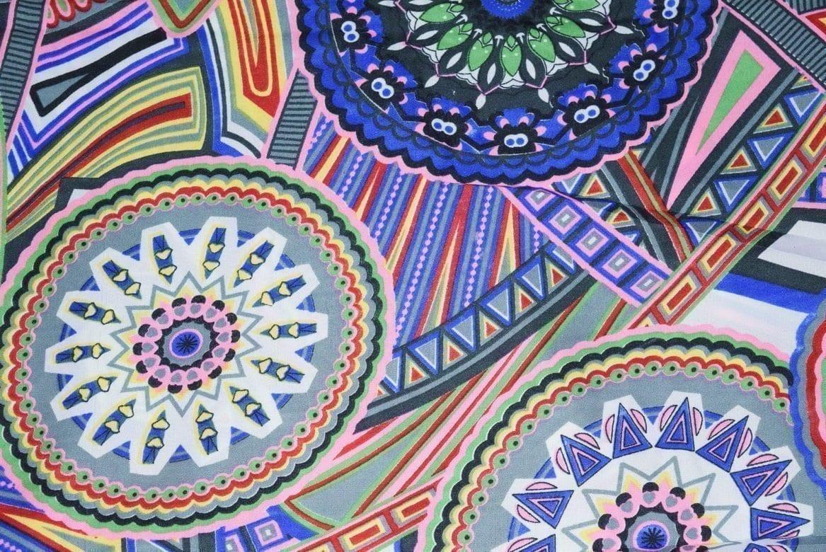 Printed Crepe fabric drapy cloth for salwar kameez PAC29 1