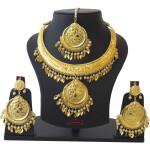 Hasli Set Necklace Earrings Tikka Punjabi Jewellery J0498