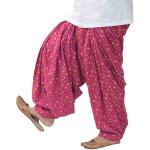 Magenta Pure Cotton Printed Patiala Salwar PPS303