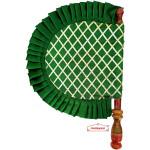 Green Punjabi Pakhi Embroidered Traditional Hand Fan T0244
