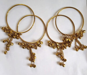 Antique Golden Ghungroo Bangles – choori with ghungru BN166