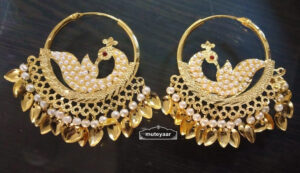 Jadau Earrings Punjabi Morni Bali Imitation Jewellery J0503