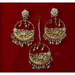 Punjabi Tikka Set with matching earrings J0509