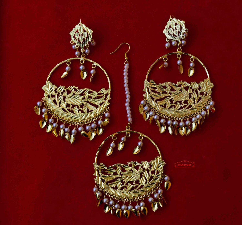 Punjabi Tikka Set with matching earrings J0509 1