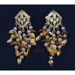 Jhallar Tops Earrings with Golden Polish J0508