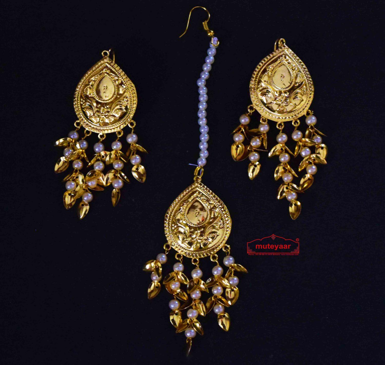 Tear Drop Tikka Earrings Set J0514 1