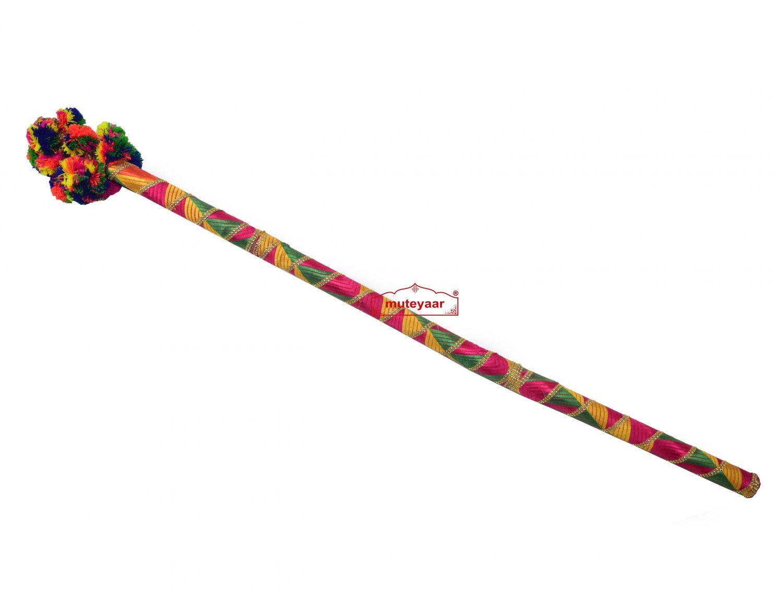 Danda for Jago with Phulkari Decoration (Folding Light Weight Plastic) 1