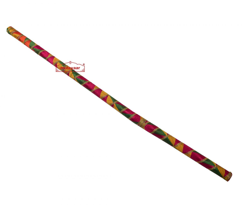Danda for Jago with Phulkari Decoration (Folding Light Weight Plastic) 3