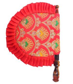 Red Embroidered Traditional Punjabi Pakhi T0249