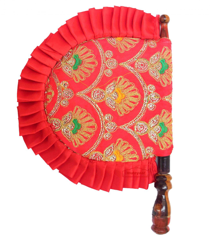Red Embroidered Traditional Punjabi Pakhi T0249 1