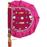 Pink Punjabi Pakhi Hand Fan T0251