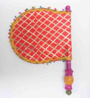 Red Ghungroo Punjabi Pakhi wit Gota Patti T0256