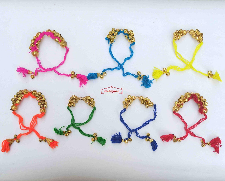 Ladies Sangeet Ghungroo Gana Wrist Band Wholesale Lot- MIX Colours 1