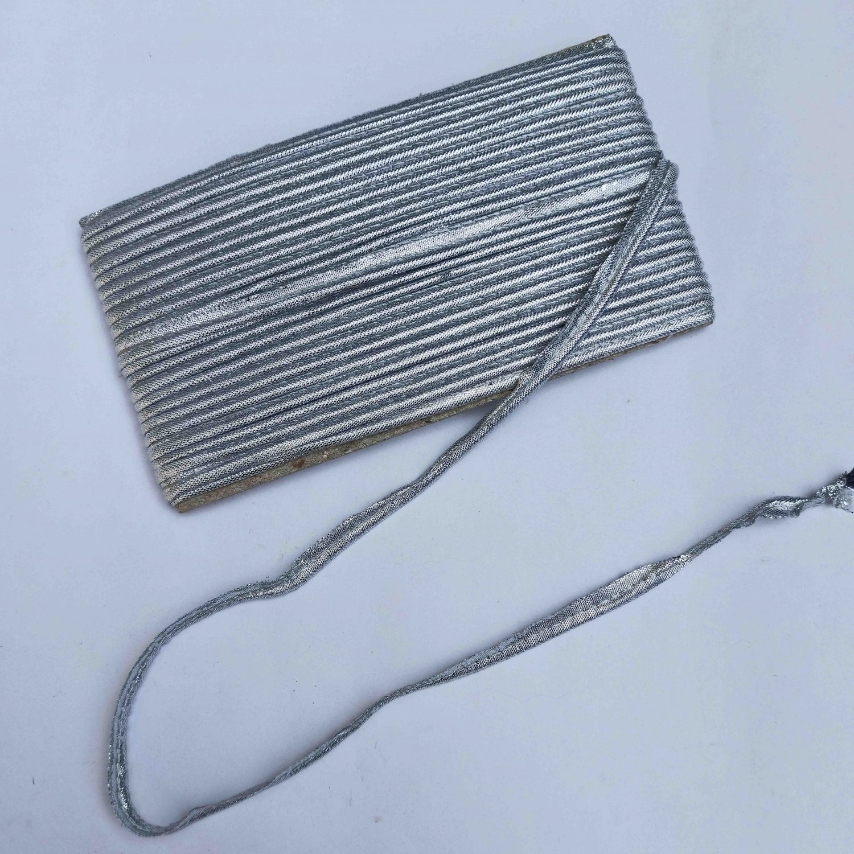 Silver Gota Piping Kinari Lace Roll of 15 Yards 1