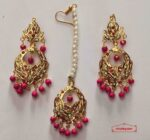 Small Jadau Tikka Earrings Set J0519