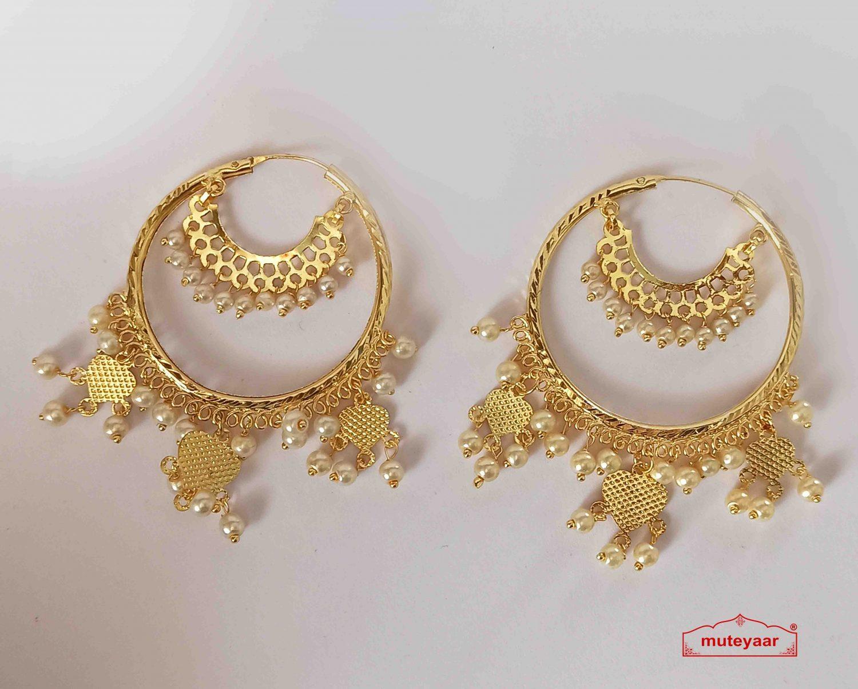 Golden Bali Earrings J0520 1