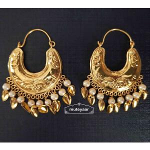 Golden Bucket Bali Earrings J0525