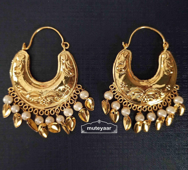 Golden Bucket Bali Earrings J0525 1