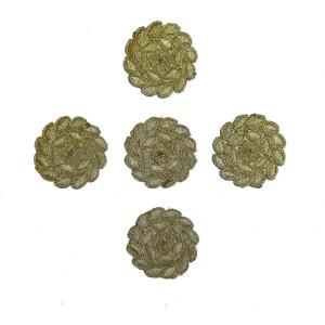Golden Zari Embroidered Motif for use on Lehenga, kurti etc. MT0038