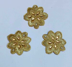 Golden Motif Patch for use on kurti, lehenga, etc. MT0039