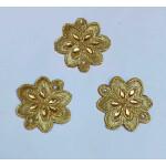 Golden Motif Patch for use on kurti, lehenga, etc. MT0039