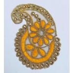 Zari Kundan Embroidered Ambi Paisley Motif MT0041