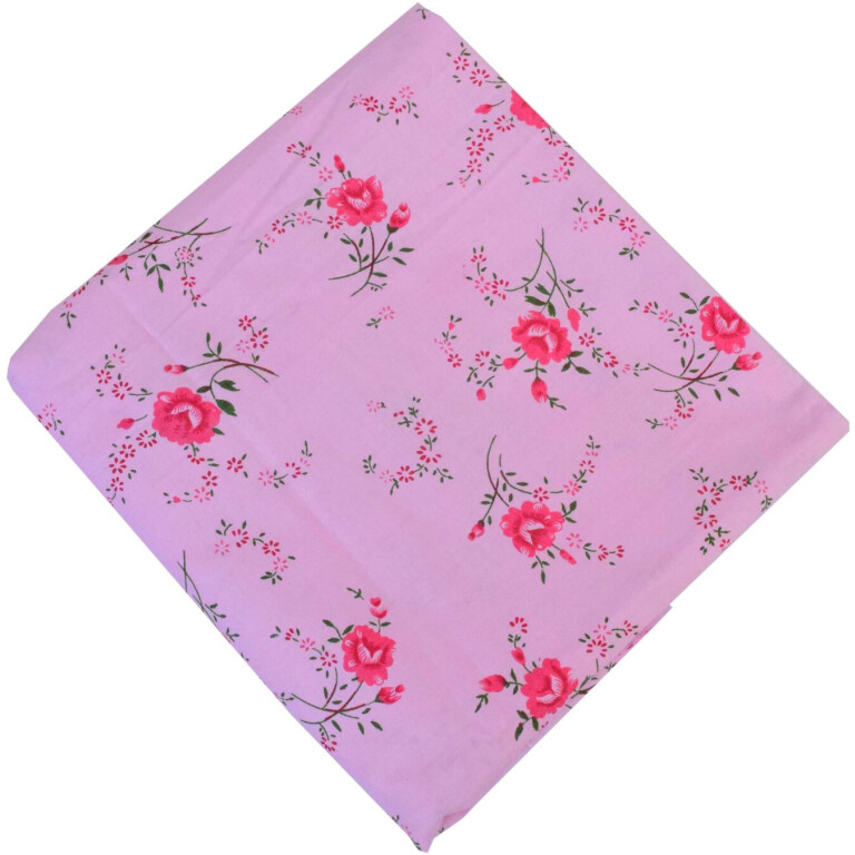 Pink Printed 100% Pure Cotton Fabric PC575