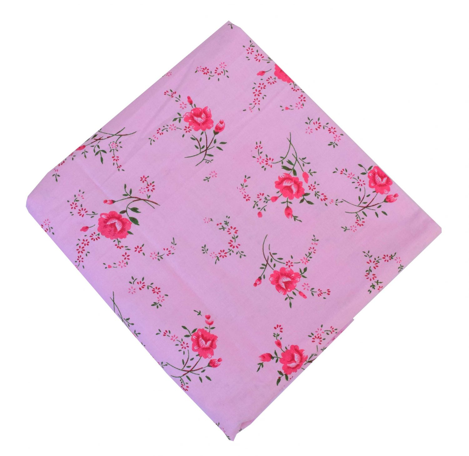 Pink Printed 100% Pure Cotton Fabric PC575 1