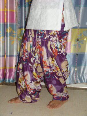 Purple Multicolor Printed Patiala Salwar PPS06