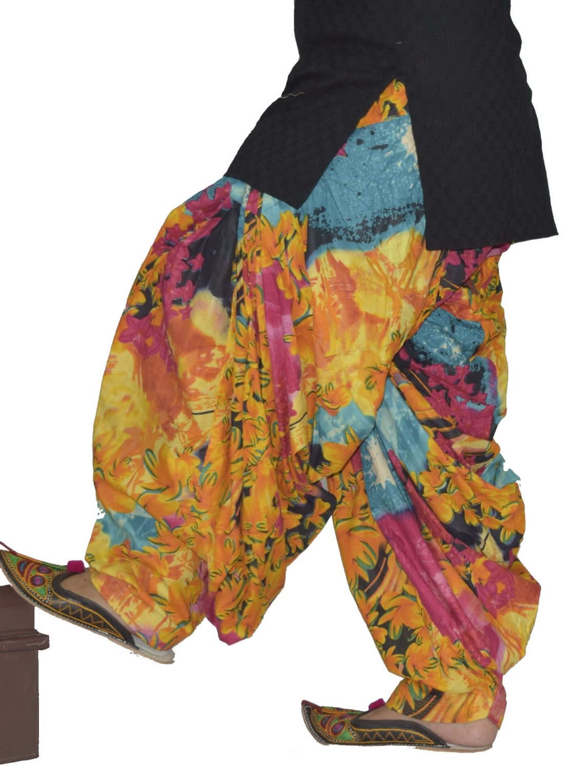 Multicolour Printed Patiala Salwar PPS180 1